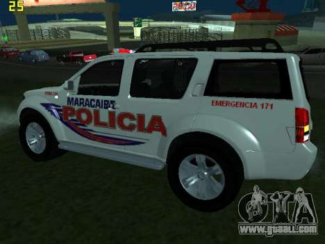 Nissan Pathfinder Polimaracaibo for GTA San Andreas back left view