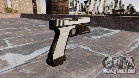 Pistol Glock 20 Chrome for GTA 4 second screenshot