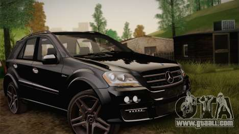 Mercedes-Benz ML63 for GTA San Andreas inner view