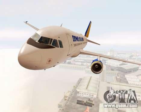 Airbus A320-200 Donbassaero for GTA San Andreas inner view