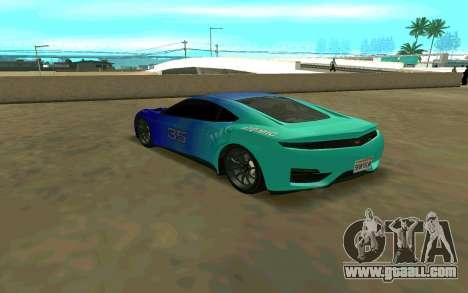 GTA V Dinka Jester for GTA San Andreas back left view