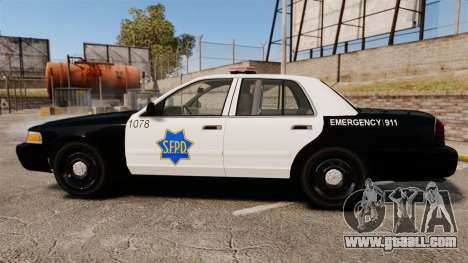 Ford Crown Victoria San Francisco Police [ELS] for GTA 4 left view
