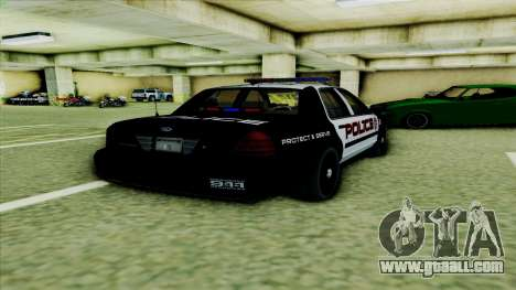Ford Crown Victoria Police Interceptor for GTA San Andreas right view
