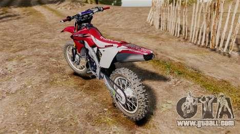 Kawasaki KX250F (Honda CRF450) for GTA 4 right view