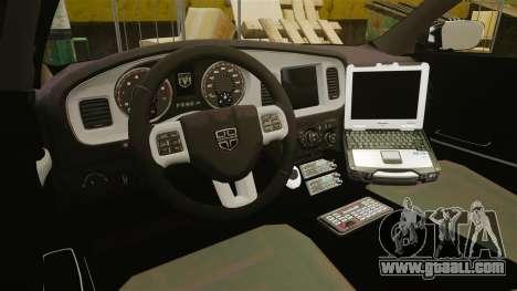 Dodge Charger 2013 Patrol Supervisor [ELS] for GTA 4 back view