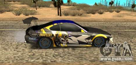 Nissan Silvia S15 Drift Industry for GTA San Andreas back left view