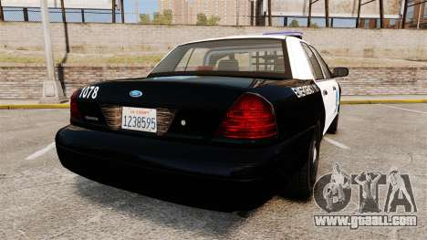 Ford Crown Victoria San Francisco Police [ELS] for GTA 4 back left view