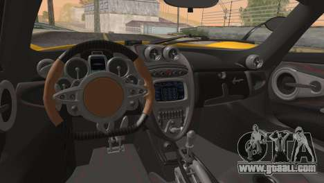 Pagani Huayra for GTA San Andreas side view