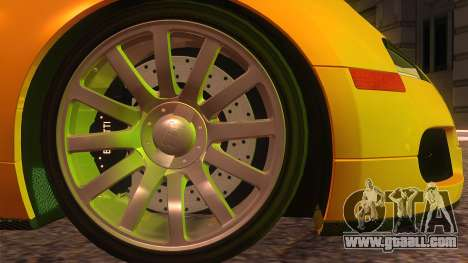 Bugatti Veyron 2009 for GTA San Andreas back left view