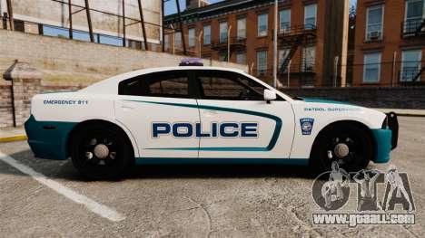 Dodge Charger 2013 Patrol Supervisor [ELS] for GTA 4 left view