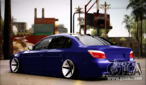 BMW M5 E60 Vossen for GTA San Andreas left view