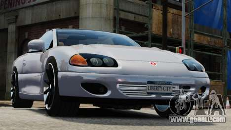 Dodge Stealth Turbo RT 1996 for GTA 4 back view