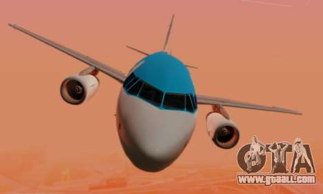 Airbus A319 KLM for GTA San Andreas bottom view