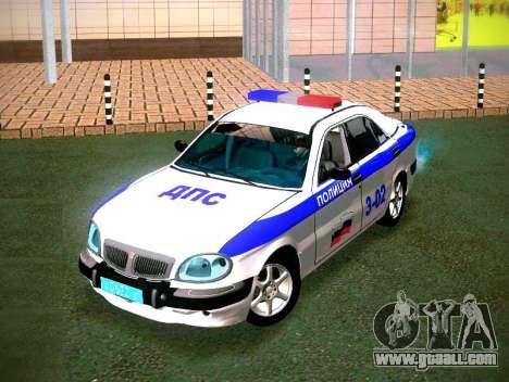 GAZ Volga 3111 DPS for GTA San Andreas back view