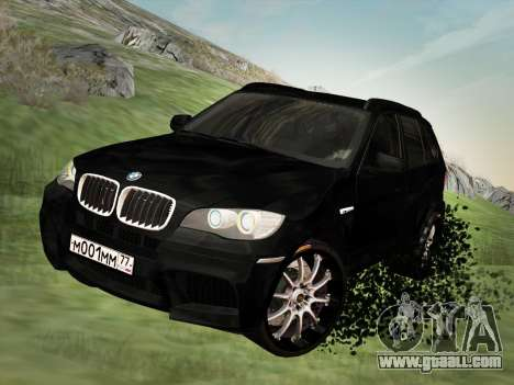 BMW X5M E70 2010 for GTA San Andreas inner view