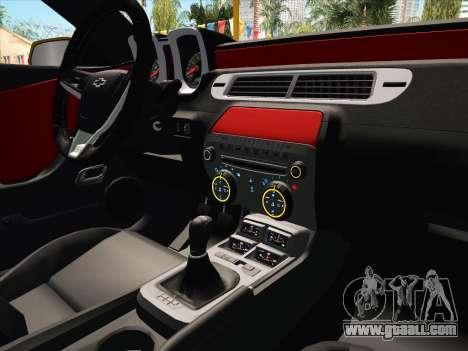 Chevrolet Camaro ZL1 2011 for GTA San Andreas upper view