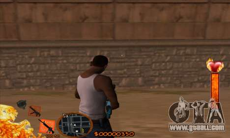 C-HUD Fire for GTA San Andreas second screenshot