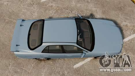 Nissan Skyline ER34 GT25 for GTA 4 right view