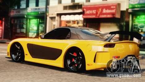 Mazda RX7 Veilside V8 for GTA 4 left view