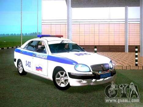 GAZ Volga 3111 DPS for GTA San Andreas back left view