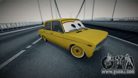 VAZ 2106 by The Cars for GTA San Andreas back view