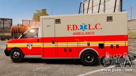Brute Speedo FDLC Ambulance [ELS] for GTA 4 left view