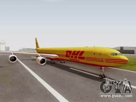 Airbus A340-600F DHL Buffalo for GTA San Andreas right view
