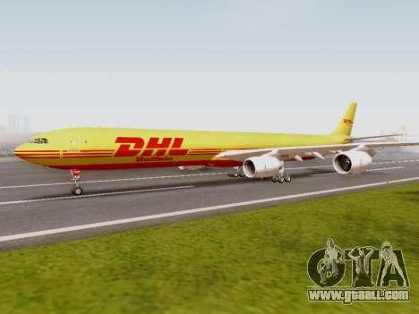 Airbus A340-600F DHL Buffalo for GTA San Andreas