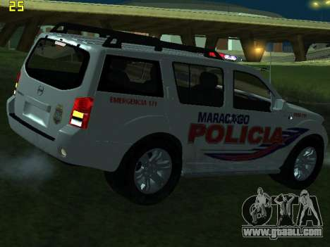 Nissan Pathfinder Polimaracaibo for GTA San Andreas upper view