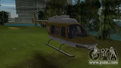 Police Helicopter from GTA VCS for GTA Vice City left view