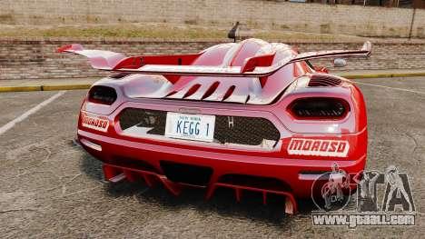 Koenigsegg One:1 for GTA 4 back left view