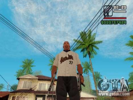 The submachine gun UZI for GTA San Andreas sixth screenshot
