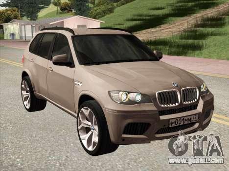 BMW X5M E70 2010 for GTA San Andreas