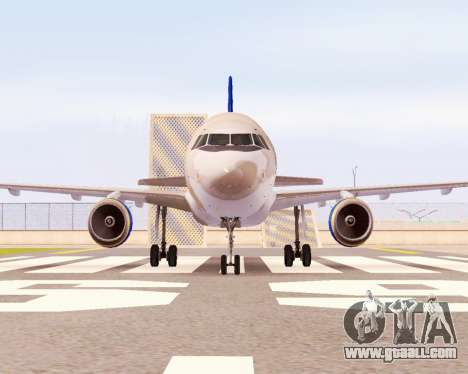 Airbus A320-200 Donbassaero for GTA San Andreas back view