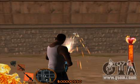 C-HUD Fire for GTA San Andreas third screenshot