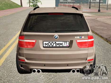 BMW X5M E70 2010 for GTA San Andreas back view