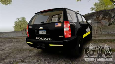 Chevrolet Tahoe 2008 LCPD [ELS] for GTA 4 back left view