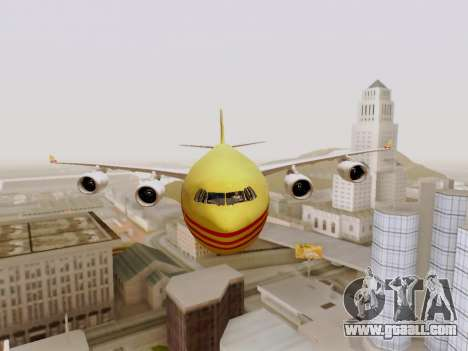 Airbus A340-600F DHL Buffalo for GTA San Andreas inner view