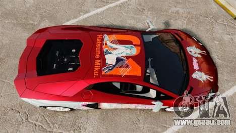 Lamborghini Aventador LP700-4 2012 [EPM] Miku 2 for GTA 4 right view