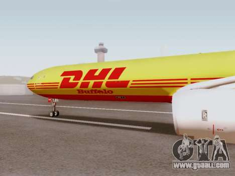 Airbus A340-600F DHL Buffalo for GTA San Andreas left view