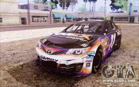 Toyota Camry NASCAR Sprint Cup 2013 for GTA San Andreas inner view