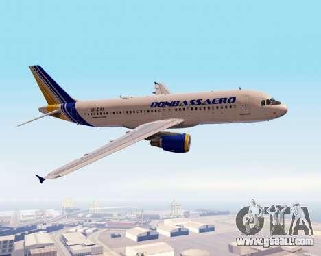 Airbus A320-200 Donbassaero for GTA San Andreas side view