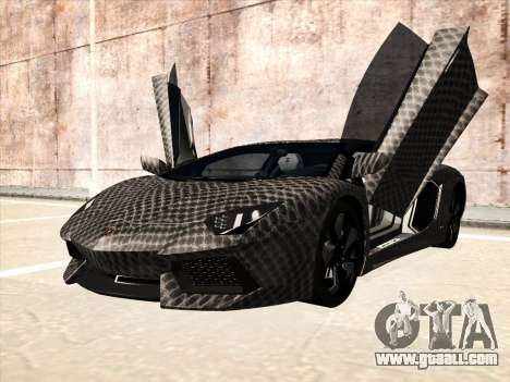 Lamborghini Aventador LP700-4 2013 for GTA San Andreas back view