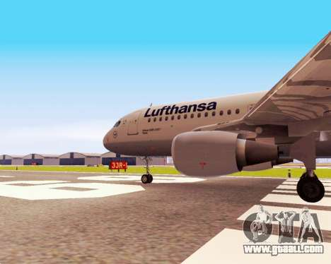 Airbus A320-200 Lufthansa for GTA San Andreas right view