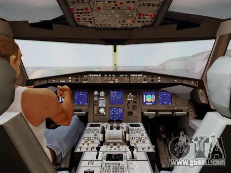 Airbus A340-600F DHL Buffalo for GTA San Andreas bottom view