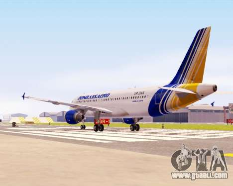 Airbus A320-200 Donbassaero for GTA San Andreas back left view