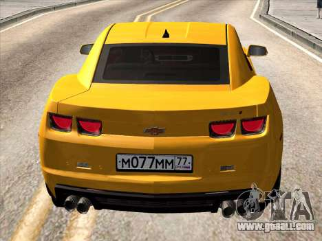 Chevrolet Camaro ZL1 2011 for GTA San Andreas right view