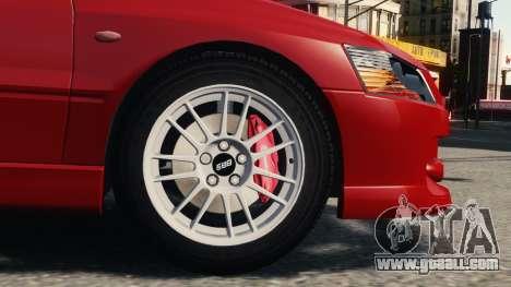 Mitsubishi Lancer Evolution IX for GTA 4 left view