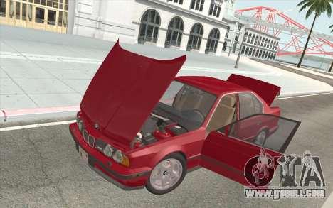BMW M5 E34 1991 NA-spec for GTA San Andreas upper view