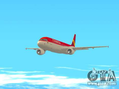 Airbus A320 Avianca Columbia for GTA San Andreas inner view